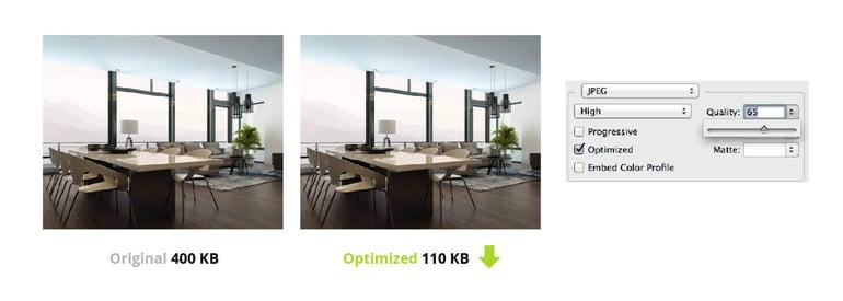 optimize images SEO real estate