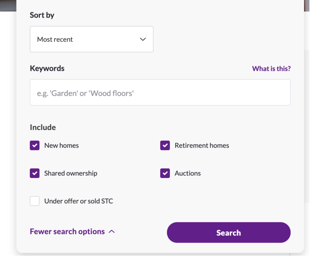 zoopla search form