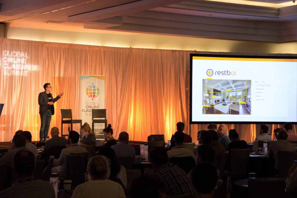 """Presenting """"HOW AI DELIVERS A BETTER USER EXPERIENCE"""" at the Global Online Classifieds Summit"""